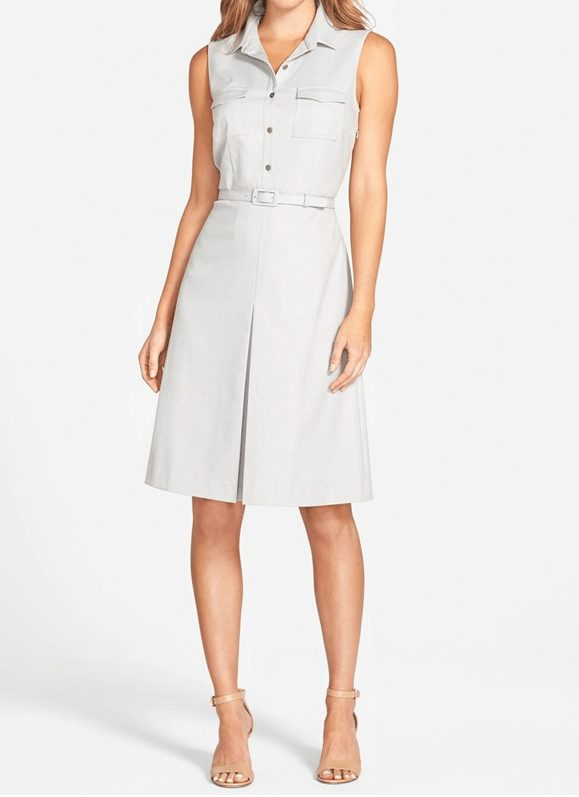 Halogen Belted Sleeveless Shirtdress