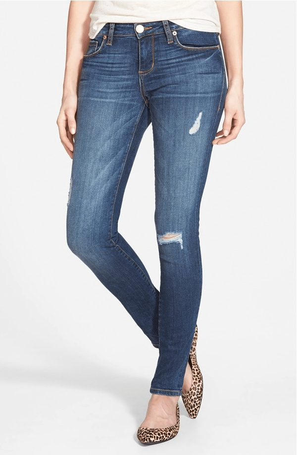 Skinny deconstructed jeans, these got great reviews and under $60!