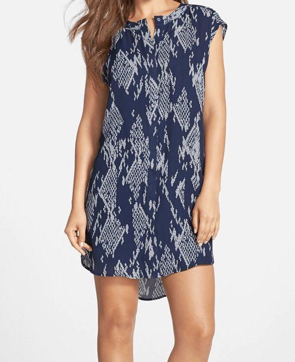 BB Dakota Josee Print Shift Dress