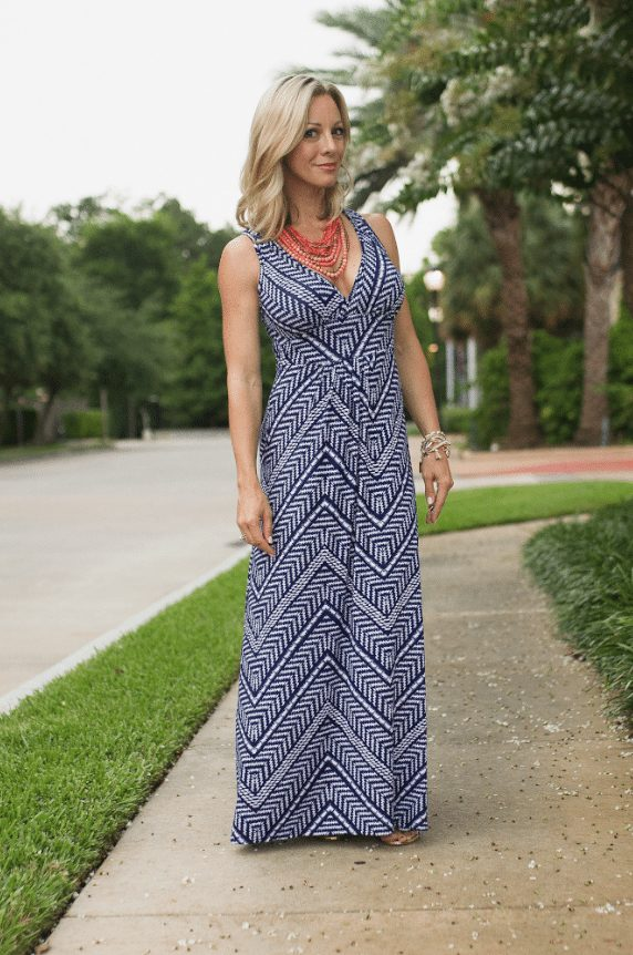 Maxi dress -This was hands down my favorite maxi dress this year, and I just saw it's on sale in the regular sizes.  There's 17 colors/patterns to choose from and the fit it so good.  Even though it has a deep-v neck, because the shoulder straps are thick, you can still wear a bra with it.
