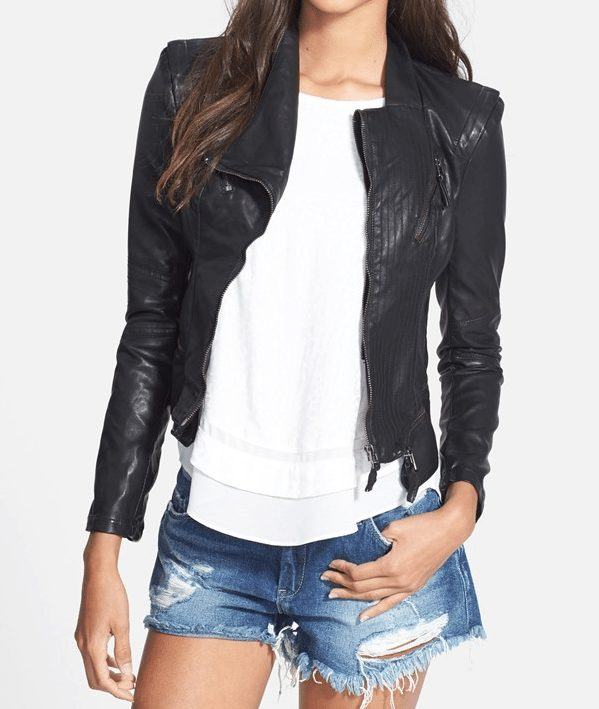 Fall fashion - BLANKNYC Faux Leather Jacket in black
