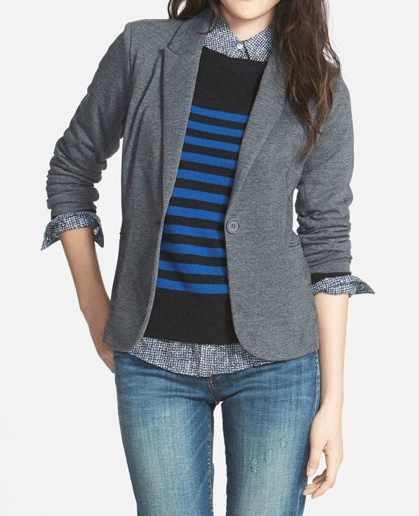 Fall fashion- Olivia Moon Ruched Sleeve Jacket