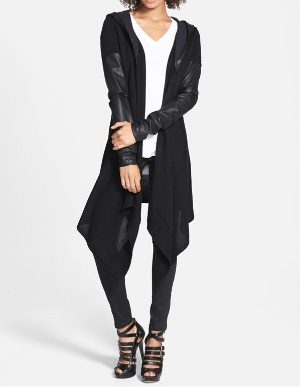 fall fashion - BLANKNYC 'Vegan Diet' Draped Jacket