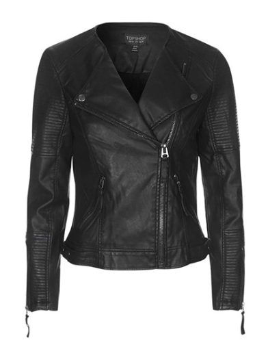 Fall fashion - 'Polly' Faux Leather Biker jacket