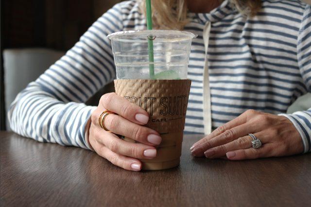 Bobeau Striped Hoodie & Coffee