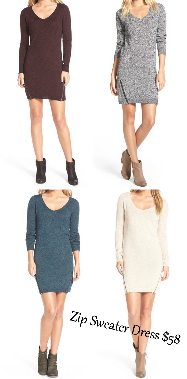 Sweater Zip Dress - so sexy for Fall with booties!