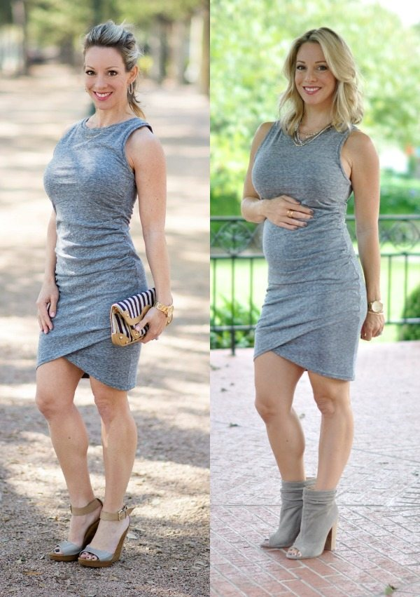 Maternity Style - dressing the bump, Leith ruched tank dress | Honey We're Home #18weekspregnant
