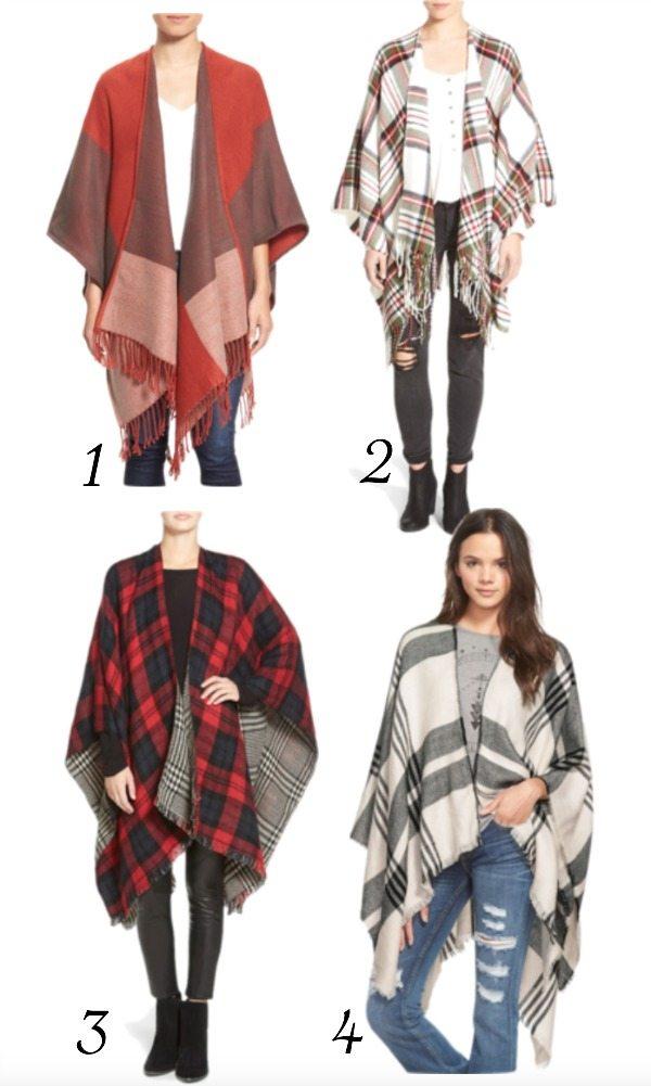 Fall fashion - affordable ponchos