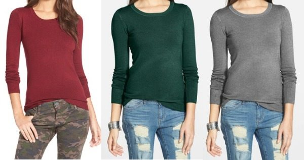 Fall fashion - basic solid thin u-neck sweater