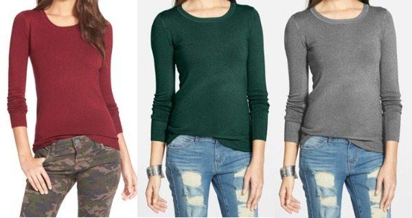 Fall fashion - basic solid thin u-neck sweater