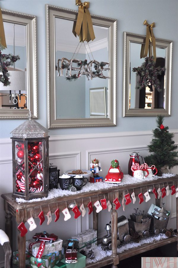 dining room christmas decor - Dining Room Christmas Decorations