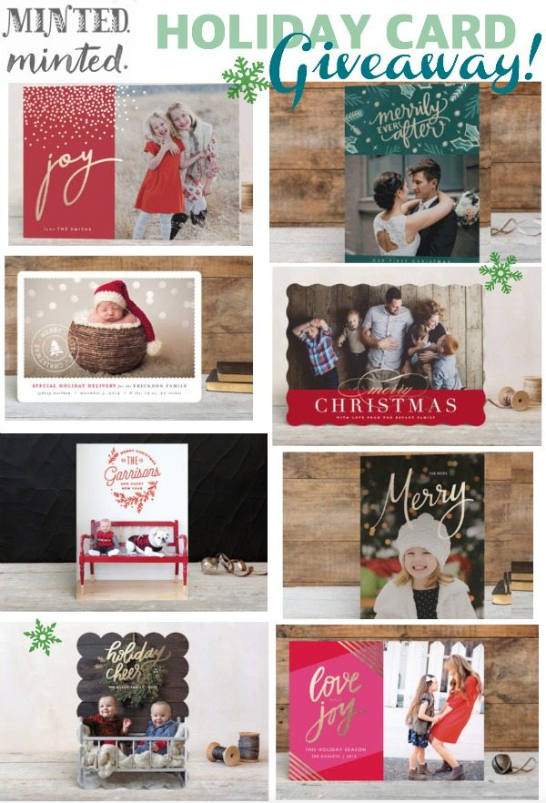 Minted Holiday cards - and a $125 giveaway