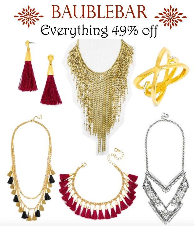 BaubleBar - everything 49% off   Black Friday Sale!