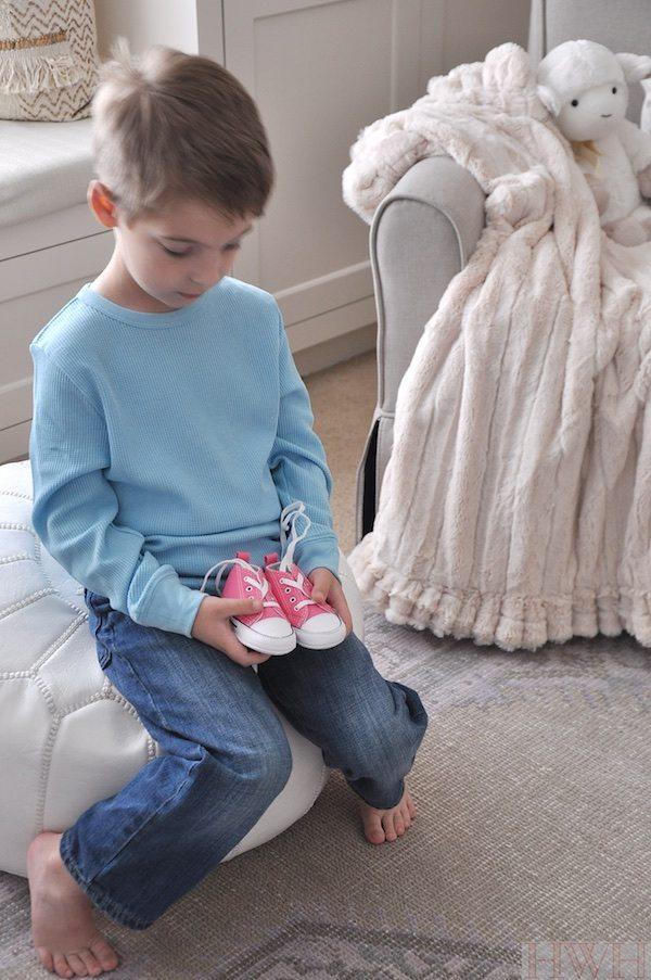 Baby girl lavender nursery   Honey We're Home