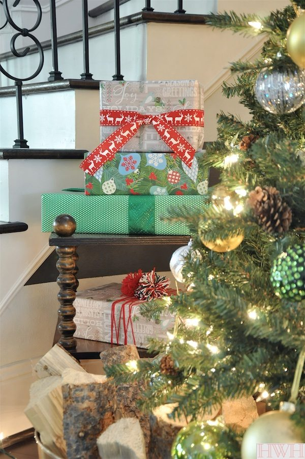 Sparkly Christmas Tree with metallic ornaments | Honey We're Home