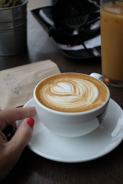 A cup of coffee really hits the spot!