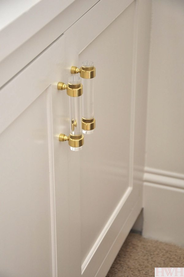 Lucite & Gold Cabinet Hardware | Honey We\'re Home