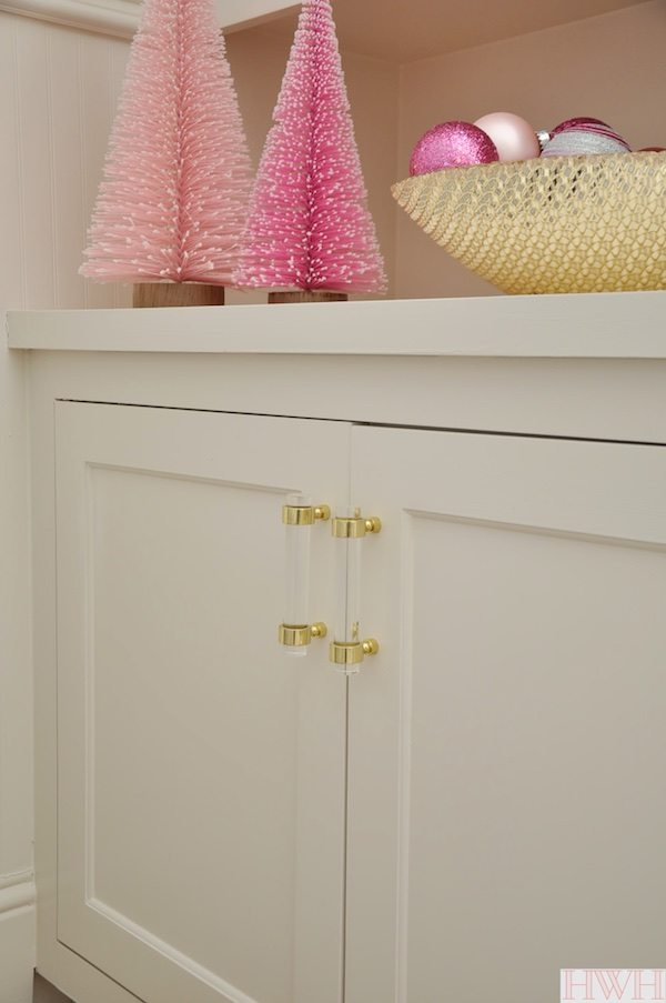 Lucite And Gold Cabinet Hardware | Honey Weu0027re Home ...