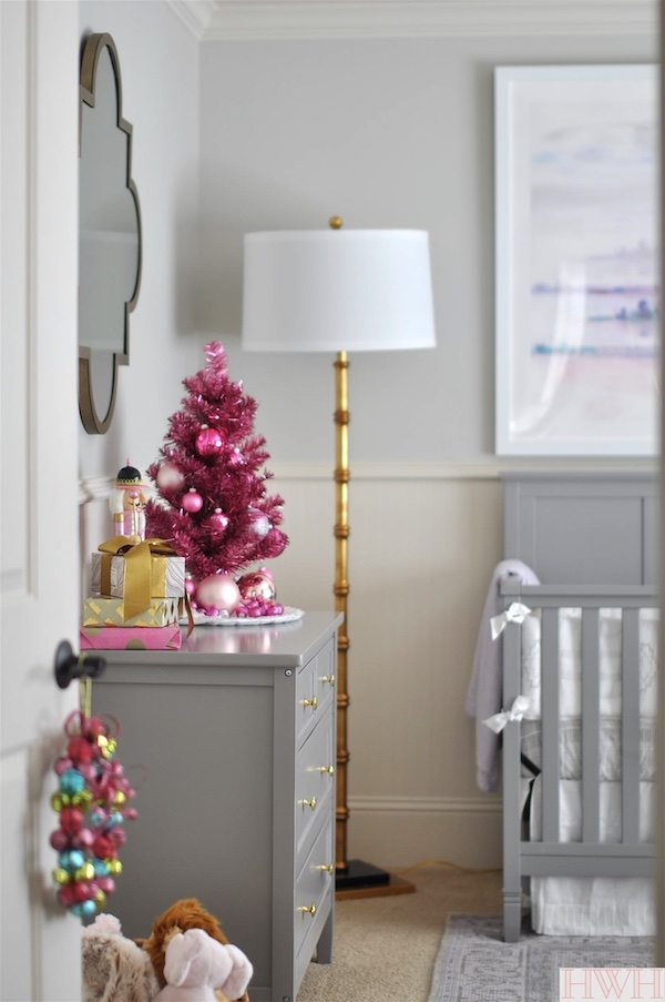 Festive holiday nursery with pink touches | Honey We're Home