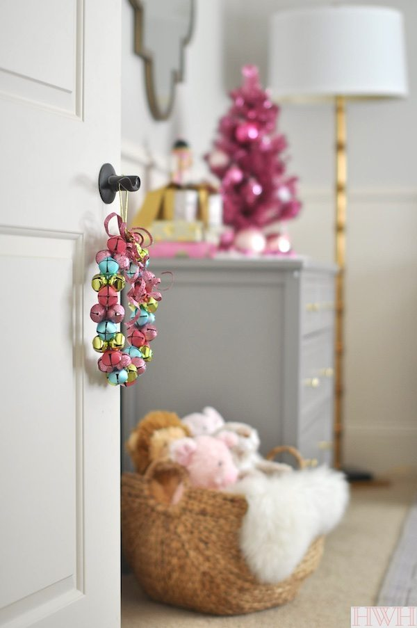 festive holiday nursery with pink touches honey were home - Pink Home 2015