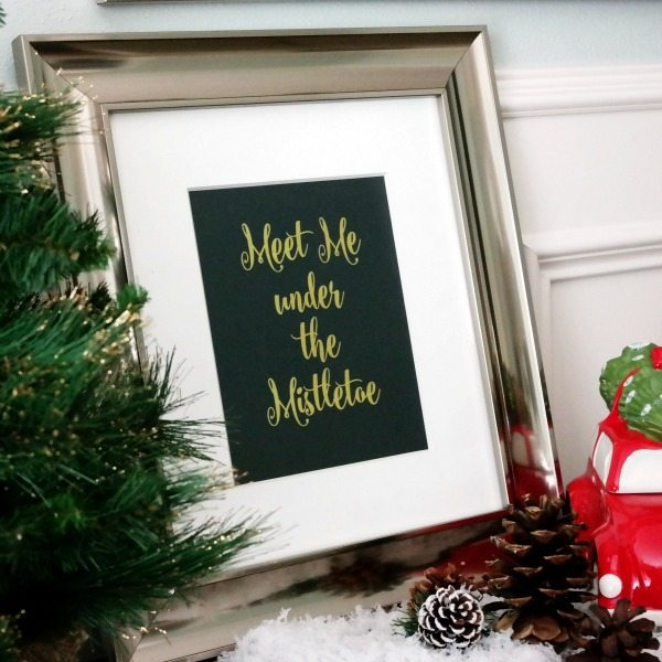 """Meet Me Under the Mistletoe"" Print 