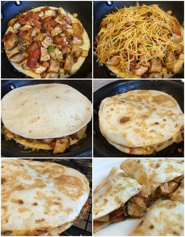 How to make delicious chicken quesadilla.