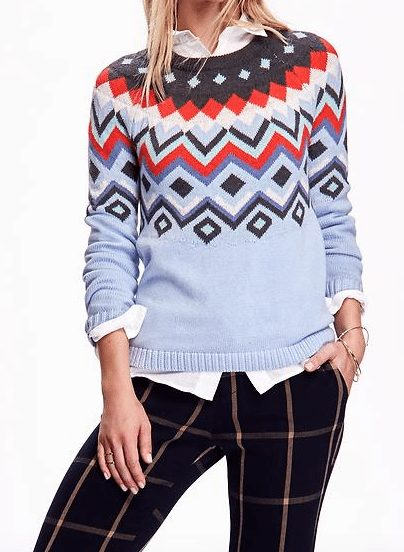 Winter fashion - Old Navy Fair Aisle Sweater