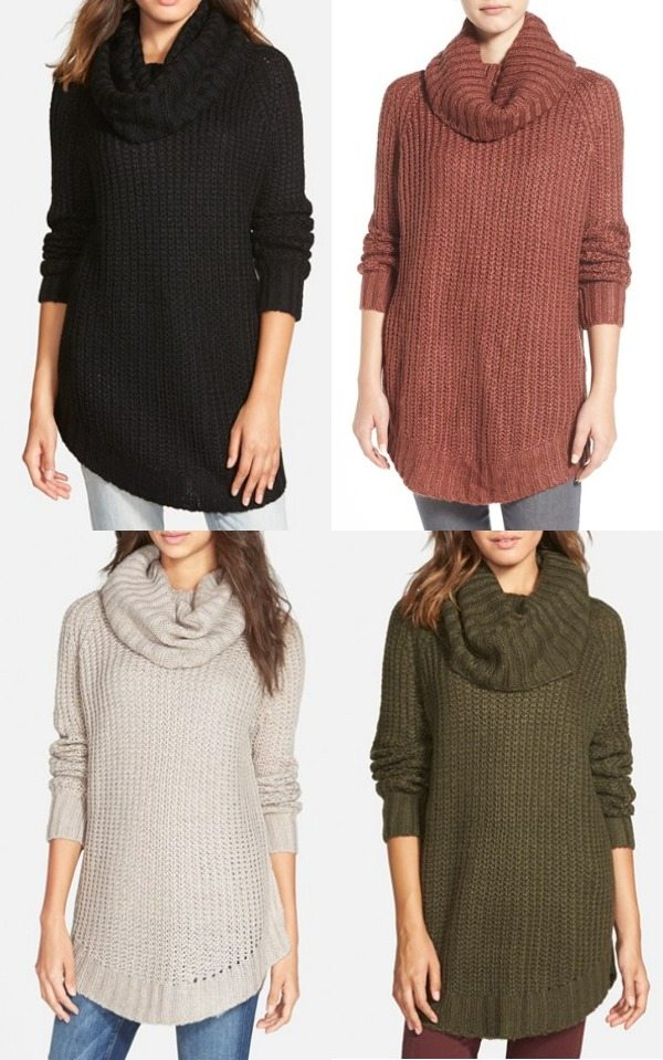 Winter fashion | cowl neck sweater