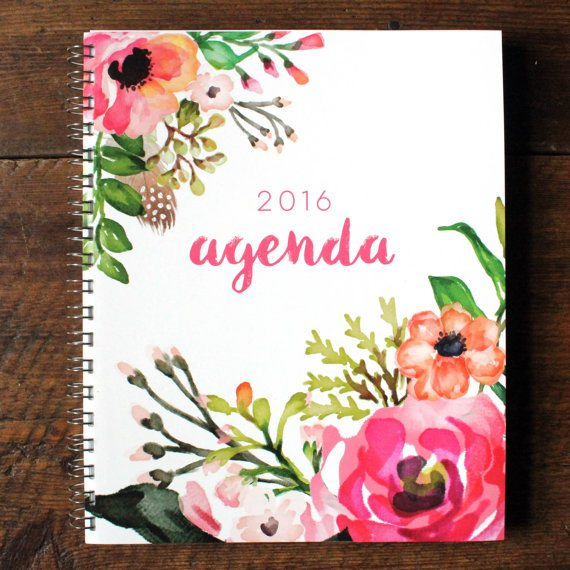Floral Watercolor Planner - The Happiness Planner - Prettiest Planners 2016 | #getorganized #schedule #planner #organizer