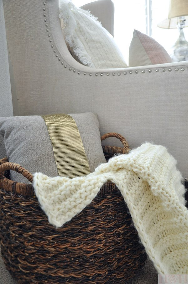 Home Styling Tips for creating a cozy reading nook in your home - gotta have a cozy throw blanket