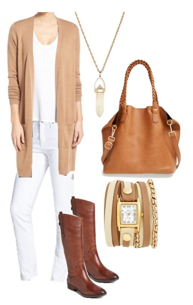 Winter white outfit inspiration - loving the luxe look of the soft caramels