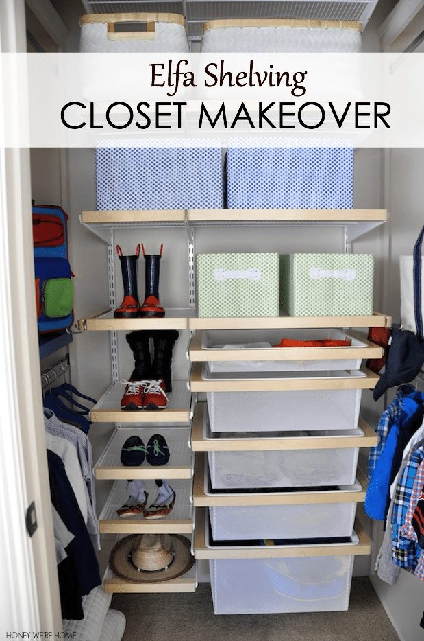 Tips to get you organized in the new year- including Closet Organization with Elfa Shelving