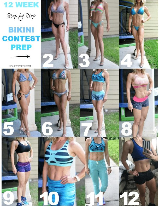Getting bikini contest ready in 12 weeks, see the transformation here. You can do it!