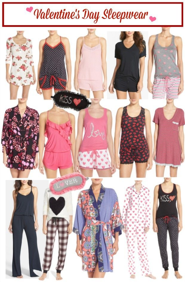 Cute and comfy Valentine's Day sleepwear - I'd love these all year long!