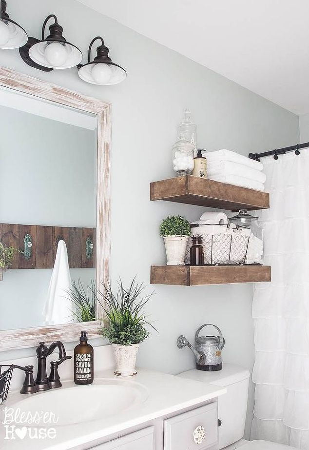 Gorgeous Wooden Open Shelving In Bathroom   Blesser House ...