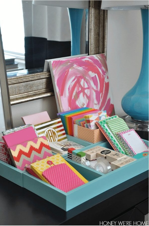 Desk and paper organization ideas