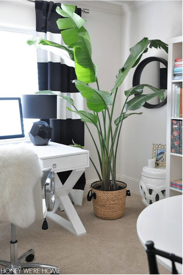 Black and White and Bright Home Office | Honey We're Home