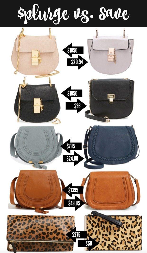 Splurge vs. Save on Bags