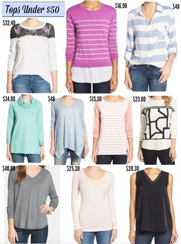 Fall/Winter Fashion - Tops under $50!