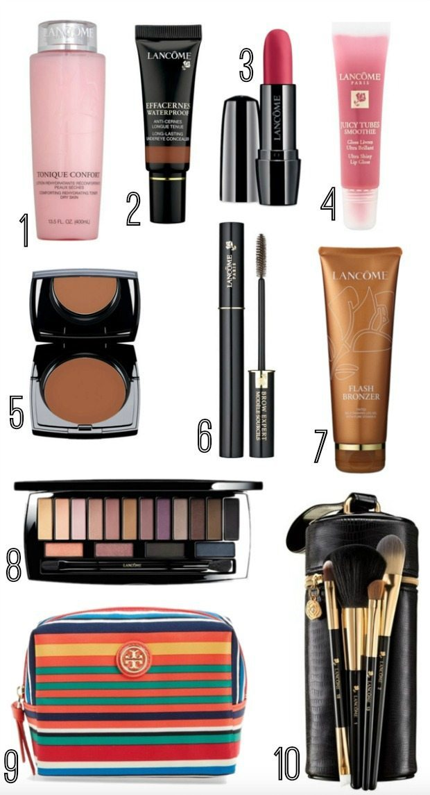 Lancome - favorite beauty products and FREE gift with purchase $130 value