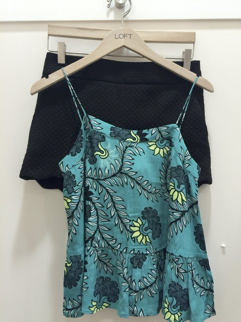 Summer Fashion -floral peplum tank and black scallop shorts #outfit #outfitinspo #summerfashion
