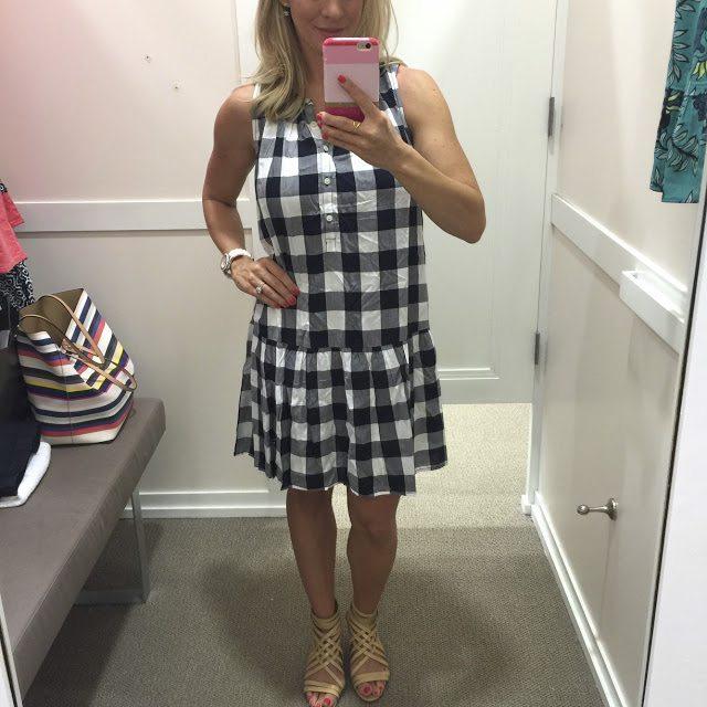 Summer Fashion -gingham drop waist dress #outfit #outfitinspo #summerfashion