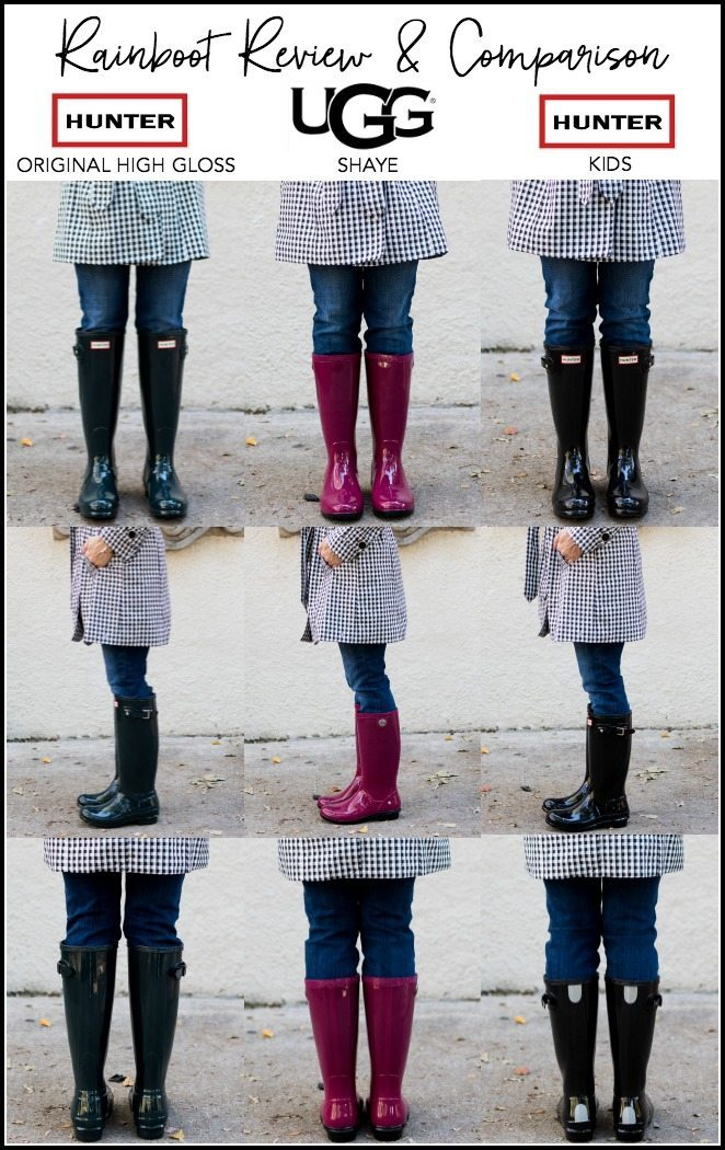"Hunter Original High Gloss Boot | UGG Shaye Rain Boot | Kids Hunter BootsShiny goodness! The first pair are black and the middle are ""ocean"" which happen to ..."