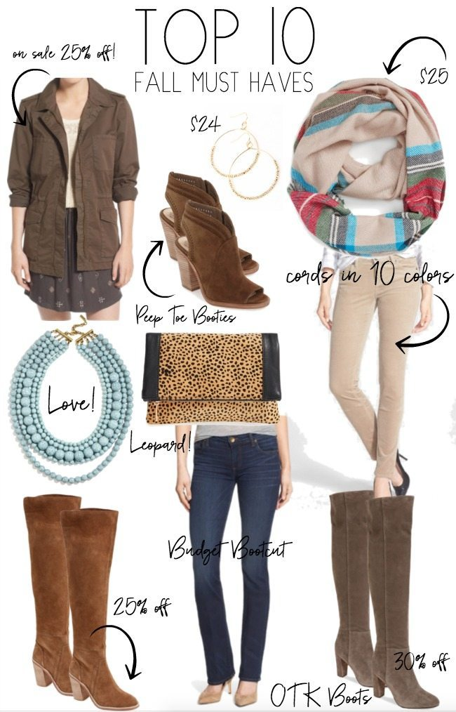2f52c1f7d10 Top 10 Fall Must Haves