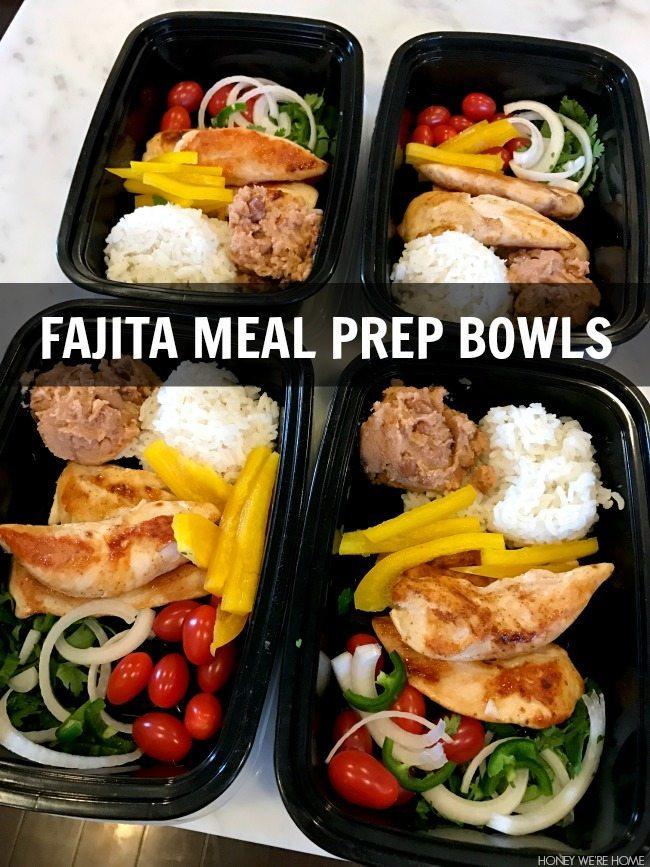 fajita meal prep bowls