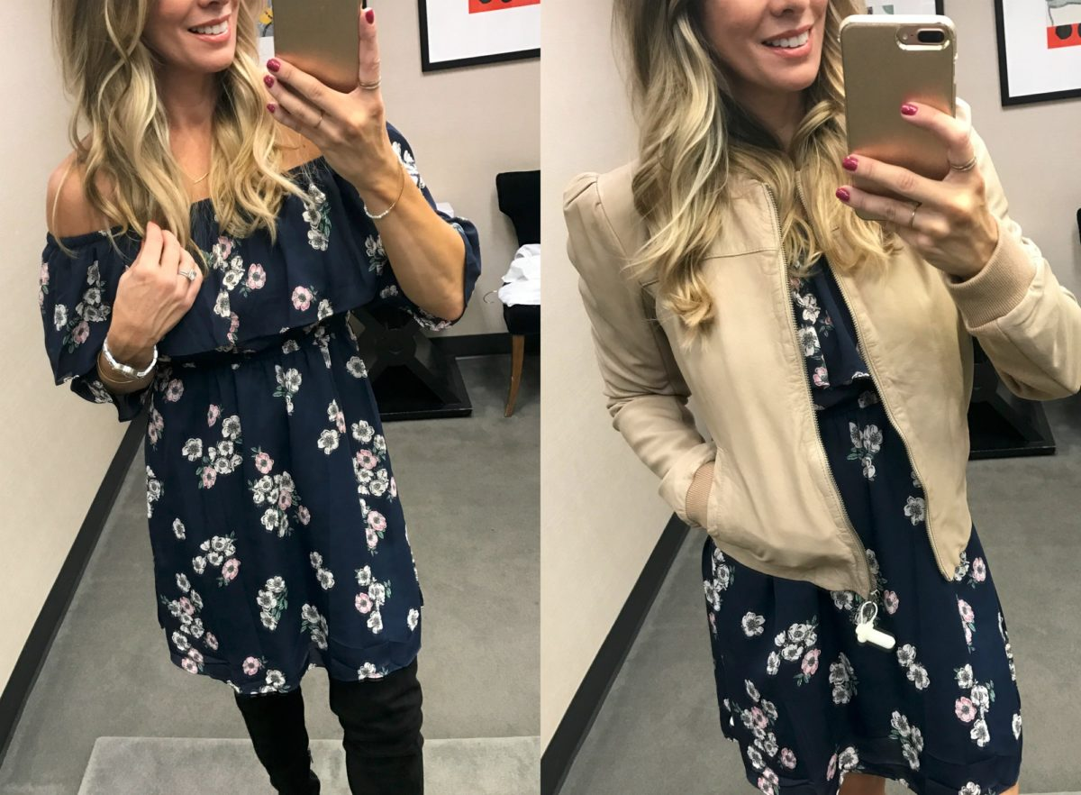 Cupcakes and Cashmere Benita Off the Shoulder Dress Nordstrom Anniversary Sale 2017