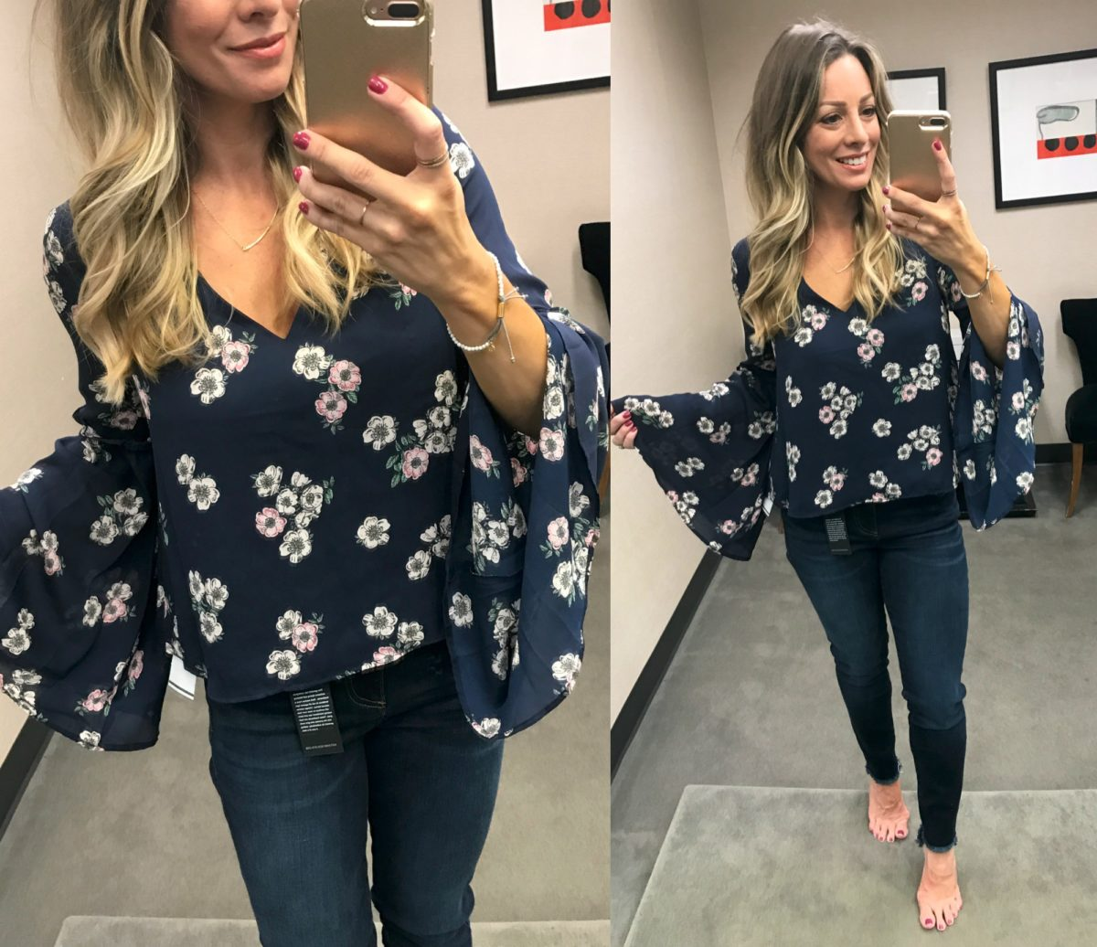 Cupcakes and Cashmere Floral Top Nordstrom Anniversary Sale 2017