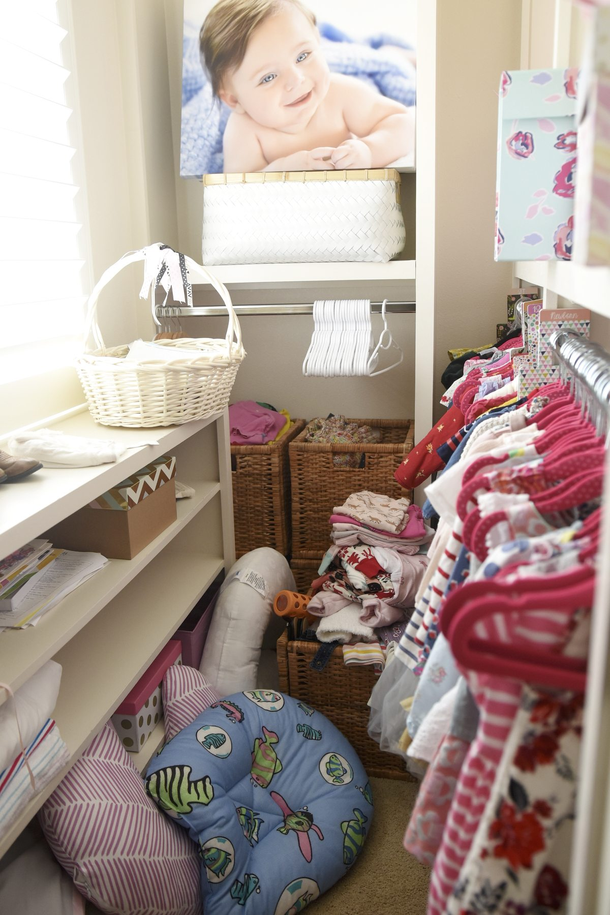 toddler closet before