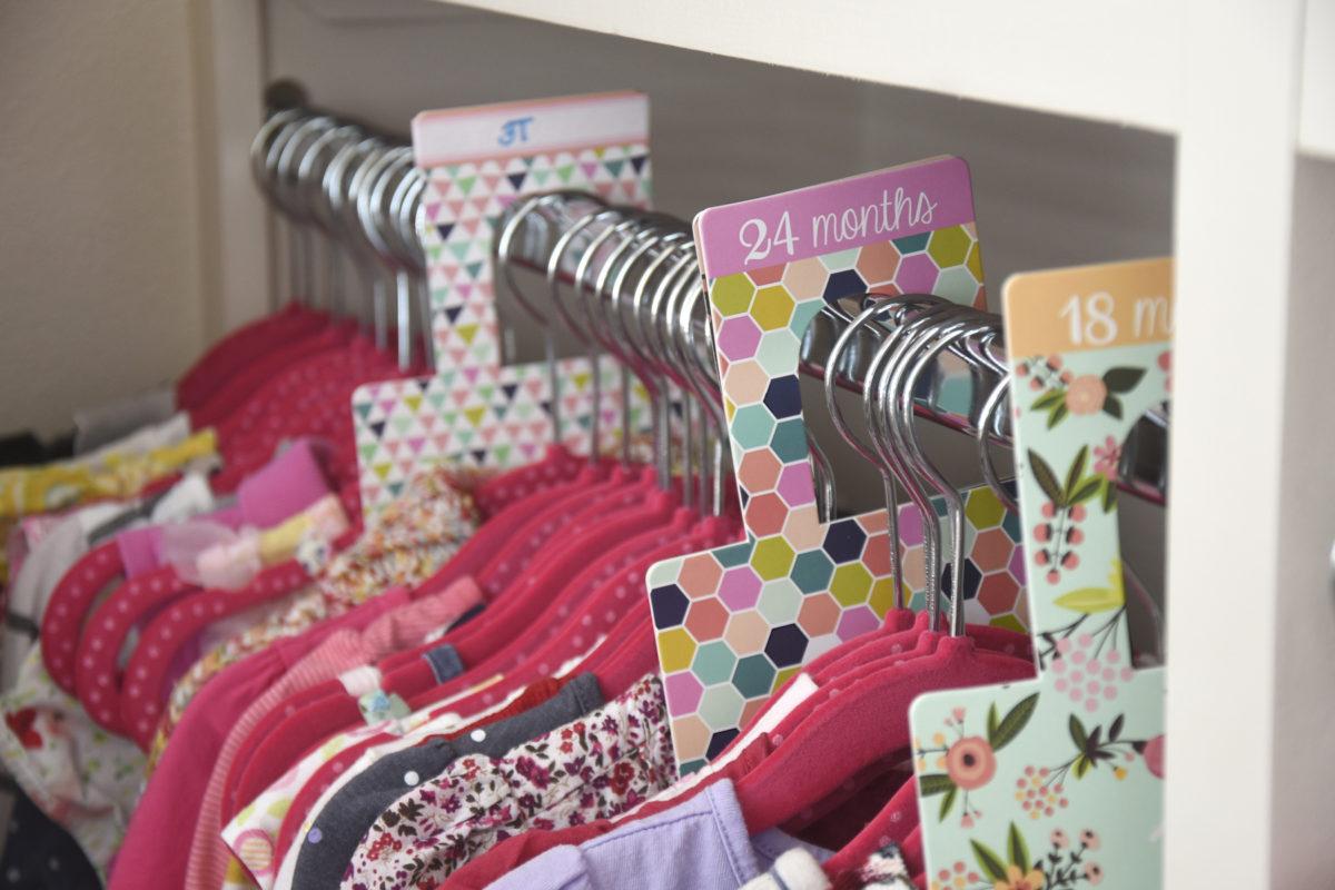 Organized kid clothes closet dividers