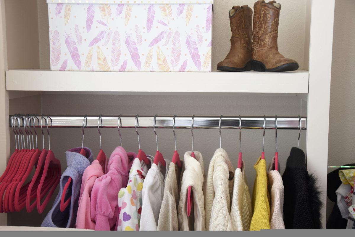 organized children closet